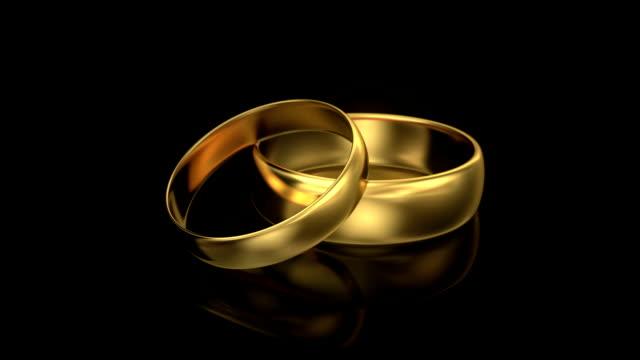 Zoom in wedding rings video