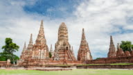 Zoom out shot of old temple wat chaiwatthanaram of Ayutthaya province video