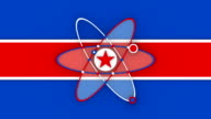 Zoom Out, Spinning, North Korea Nuclear Concept (2 versions Loopable) video