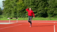 HD: Zoom, Shot of Young Woman Throwing Javelin video