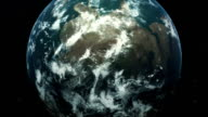zooming earth animation video