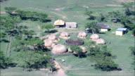 Zulu Kraal  - Aerial View - KwaZulu-Natal,  uMzinyathi District Municipality,  Msinga,  South Africa video