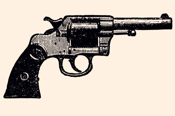 NAVY REVOLVER NAVY REVOLVER COLT'S (1892) gun stock illustrations
