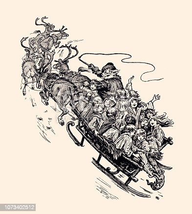 SANTA'S SLEIGH TRAVELING WITH CHILDREN