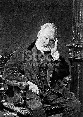 PORTRAIT OF VICTOR HUGO,1802-1885,BY GOUPIL