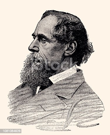 PORTRAIT OF CHARLES DICKENS (1812-1870) BY WALTER BESANT.Charles John Huffam Dickens was an English writer and social critic. He created some of the world's best-known fictional characters and is regarded by many as the greatest novelist of the Victorian era