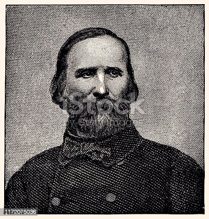 PORTRAIT OF GIUSEPPE GARIBALDI PUBLISHED IN THE MAGAZINE -GREAT MEN AND FAMOUS WOMEN IN 1894