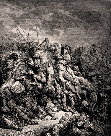 RICHARD CŒUR DE LION AT THE BATTLE OF ARSUR/ARSUF (XXXL)