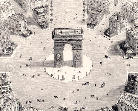 PARIS:ARC DE TRIOMPHE IN 1857 (XXXL)