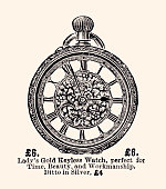 Pocket watch for ladies of the 19th century