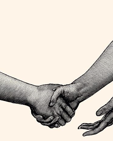 SHAKING HANDS (XXXL)