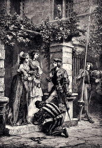 CHEVALIER DE BAYARD TAKING LEAVE OF THE LADIES OF BRESCIA (XXXL with lots of details)