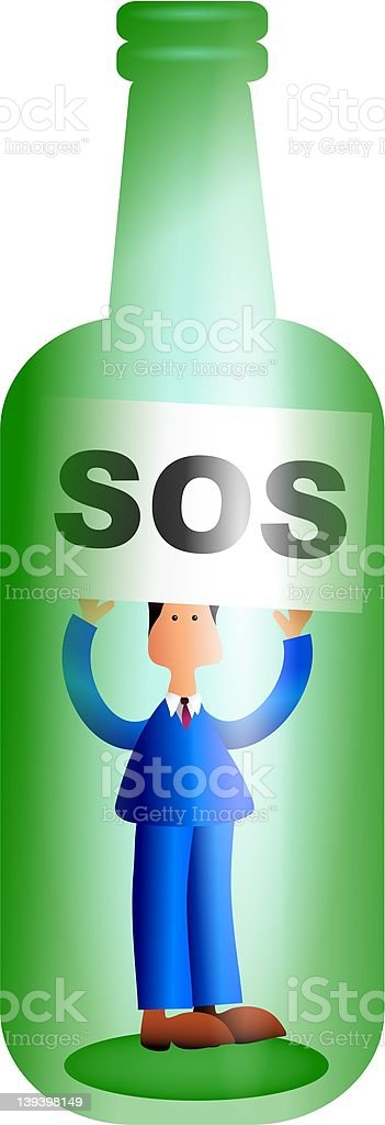 S.O.S royalty-free sos stock vector art & more images of abandoned