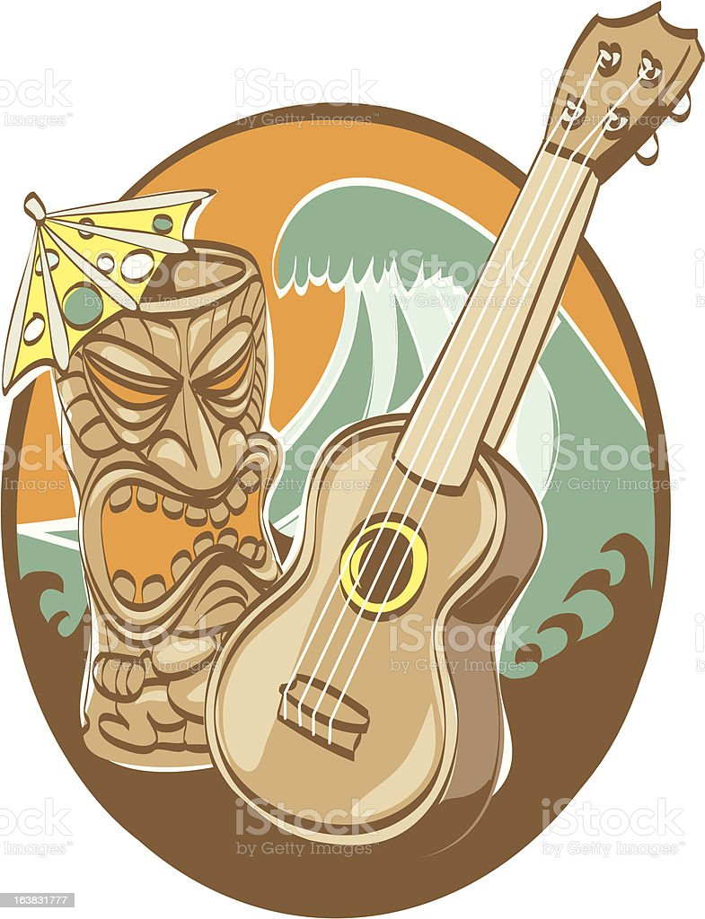 TROPICAL TIKI PARTY vector art illustration