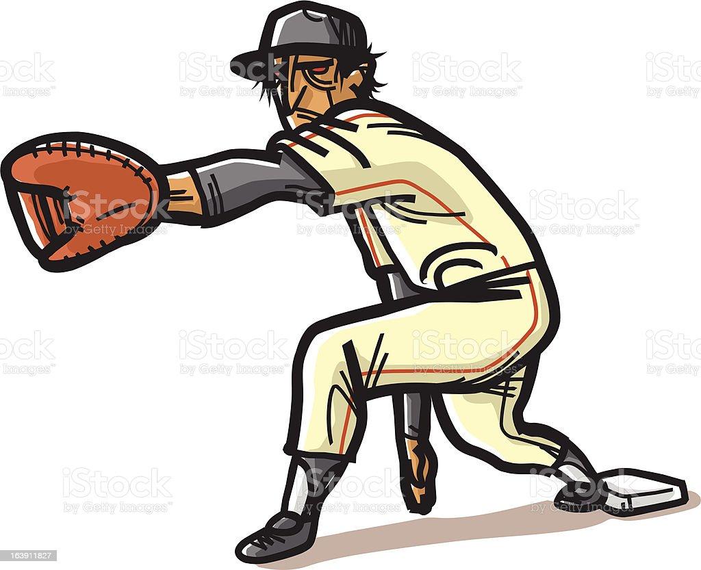 野球一塁手 ロイヤリティフリー野球一塁手 - イラストレーションのベクターアート素材や画像を多数ご用意