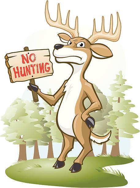Deer Hunting Camp stock vector. Illustration of head ...   Deer Hunting Cartoon Clipart