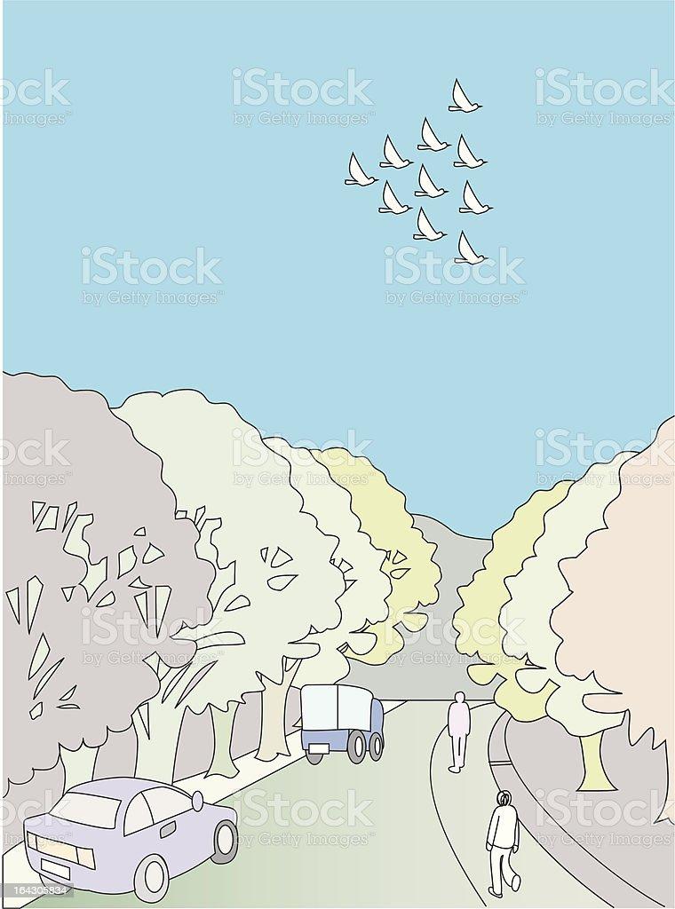渡り鳥の思い出 royalty-free stock vector art