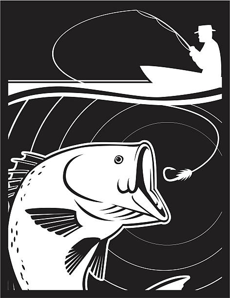 HOOK BASS vector art illustration