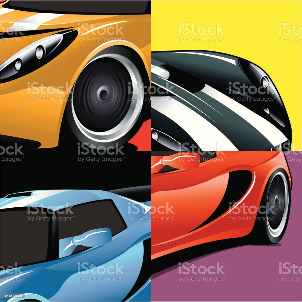CAR ART vector art illustration
