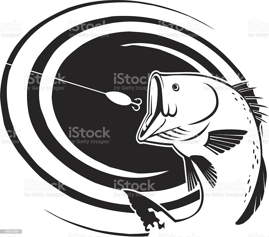 BASS SWIRL royalty-free bass swirl stock vector art & more images of animal