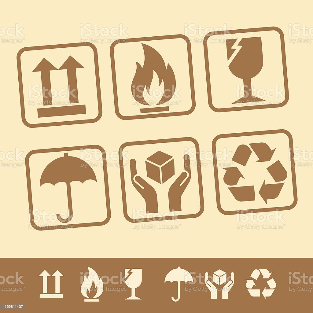 PACKAGING SYMBOLS royalty-free packaging symbols stock vector art & more images of advice