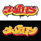 """Word """"Wild"""" written in graffiti style. SL"""