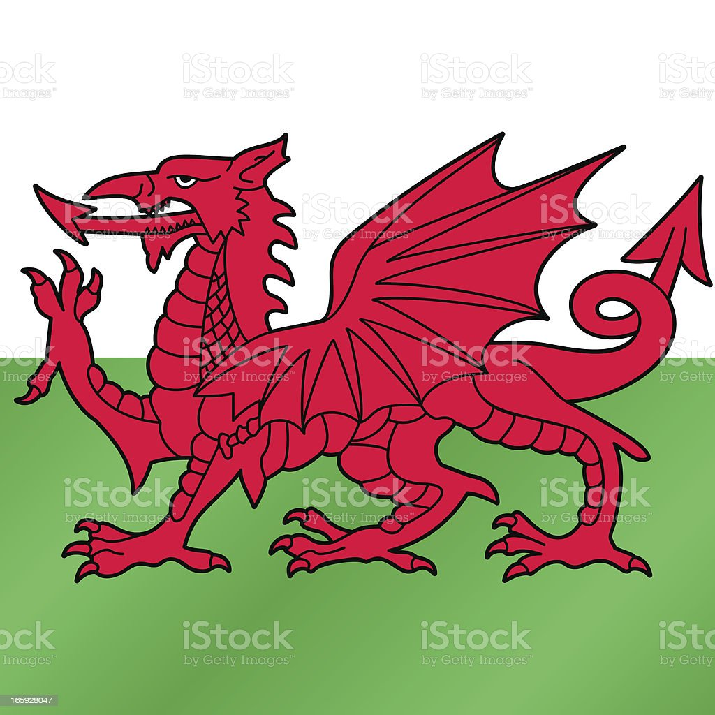 RED DRAGON OF WALES vector art illustration