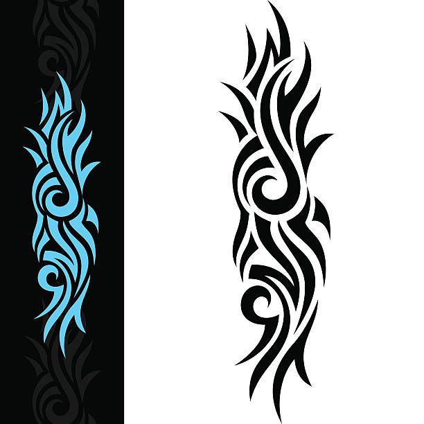 BLUE TATTOO Tribal Tattoo arcane stock illustrations