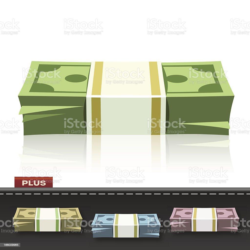 MONEY BUNDLE vector art illustration