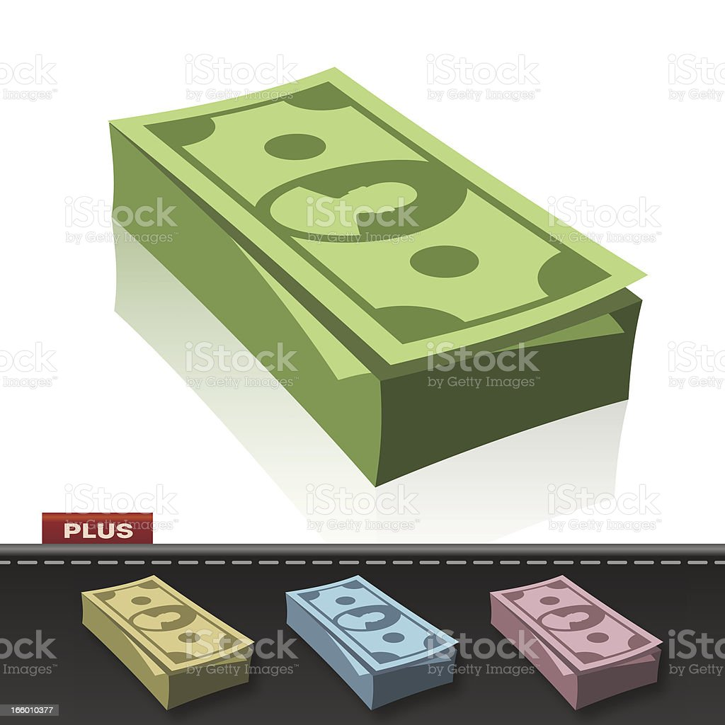 MONEY STACK royalty-free stock vector art