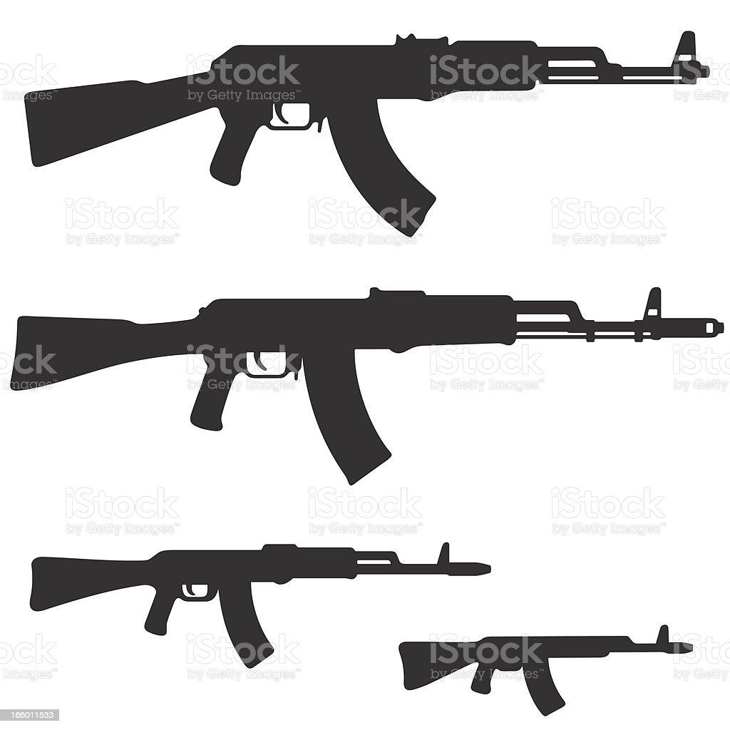 royalty free ak 47 clip art vector images illustrations istock rh istockphoto com AK-47 Silhouette Pistol Clip Art