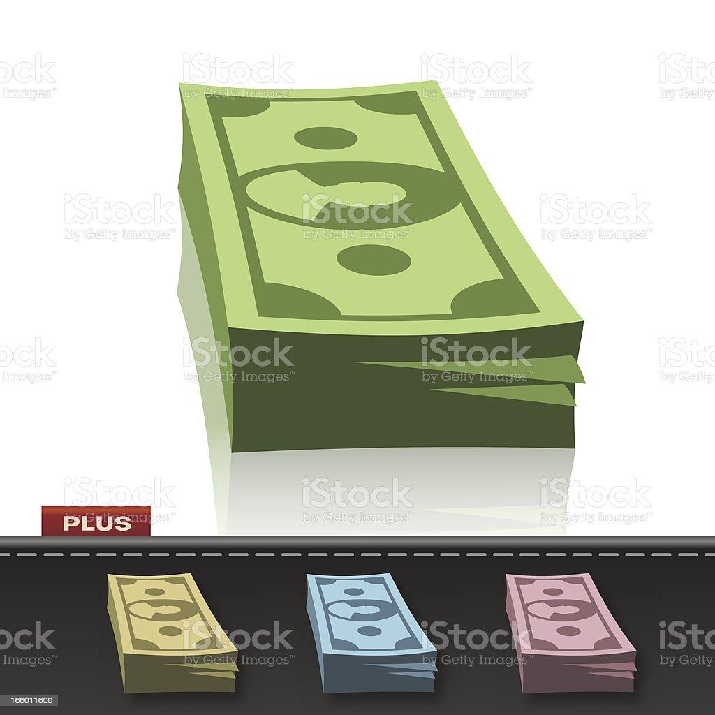 MONEY WAD vector art illustration