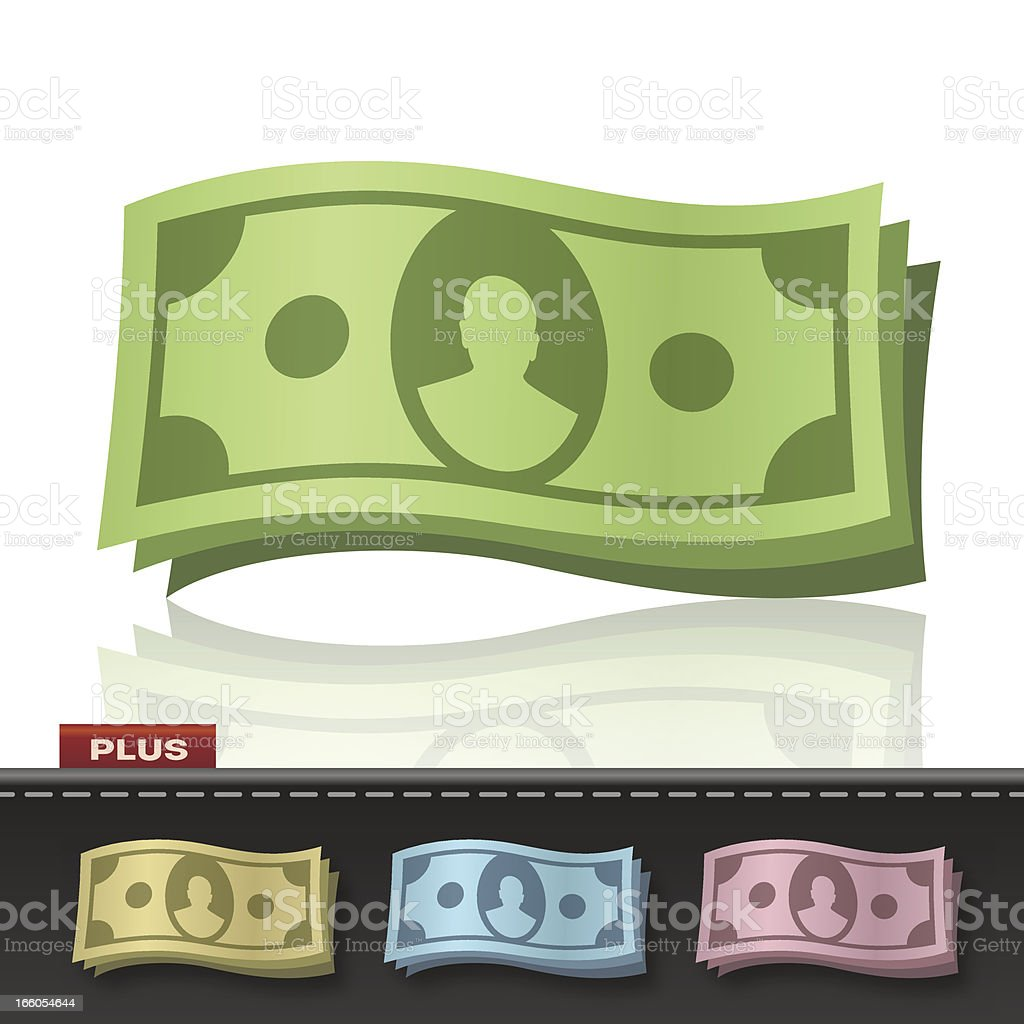 WAVING MONEY royalty-free stock vector art