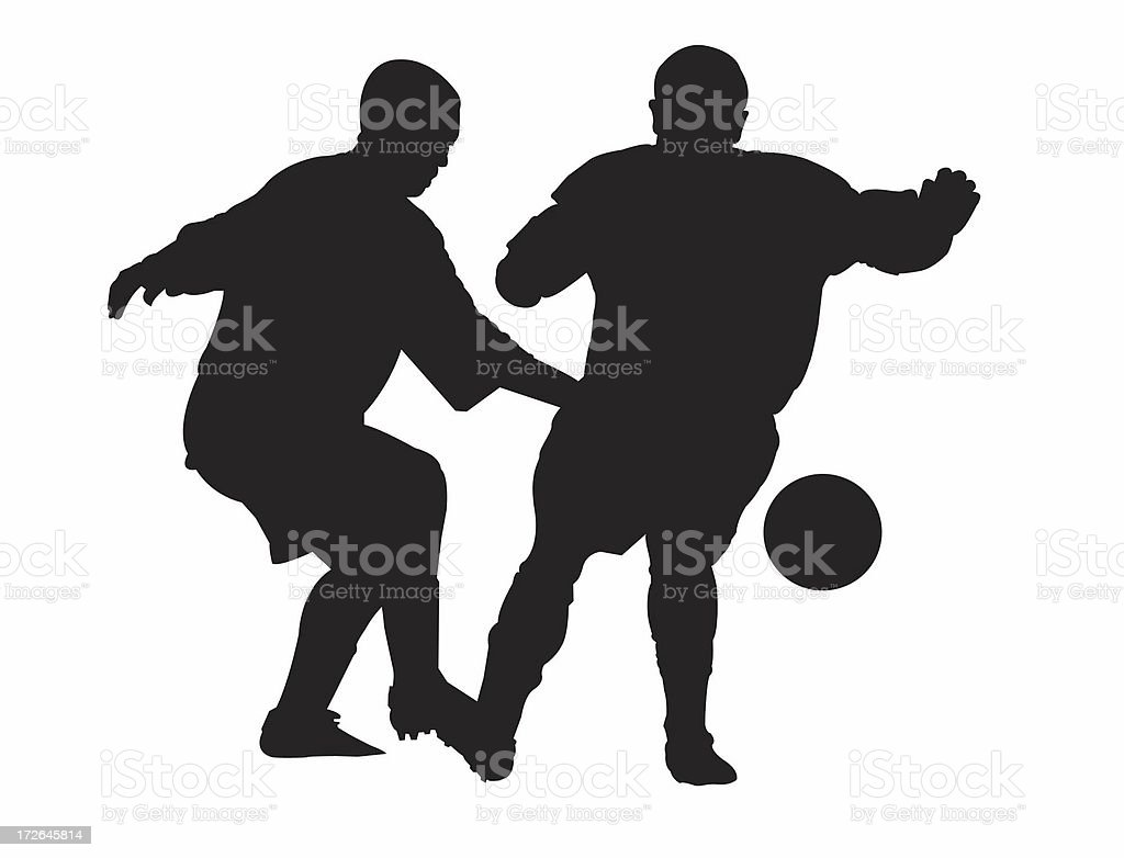 FOOTBALLERS SILHOUETTE royalty-free footballers silhouette stock vector art & more images of ball