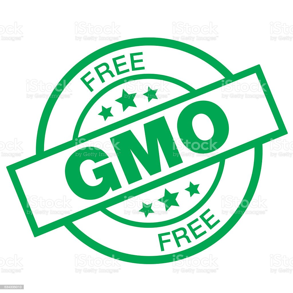 GMO FREE vector art illustration