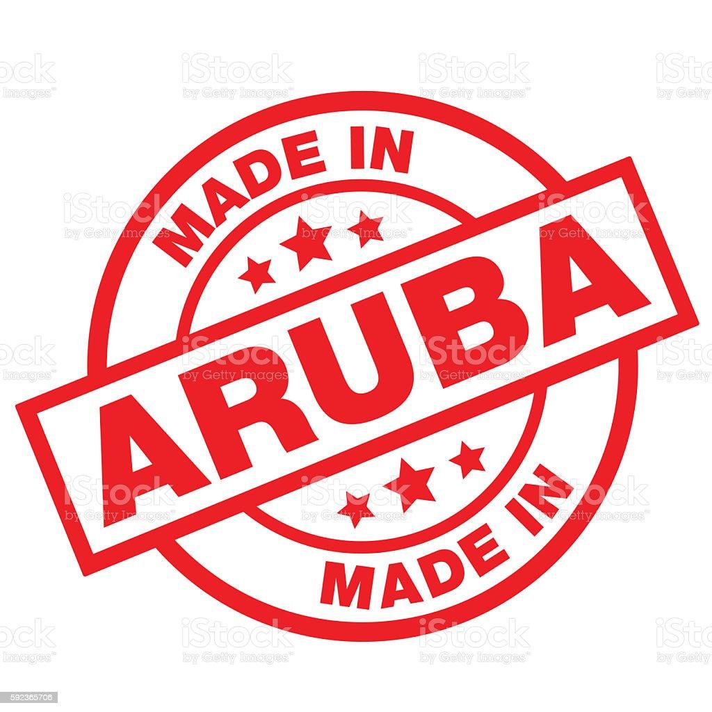 MADE-IN-ARUBA vector art illustration
