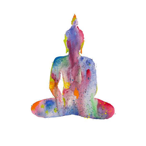 Будда vector art illustration