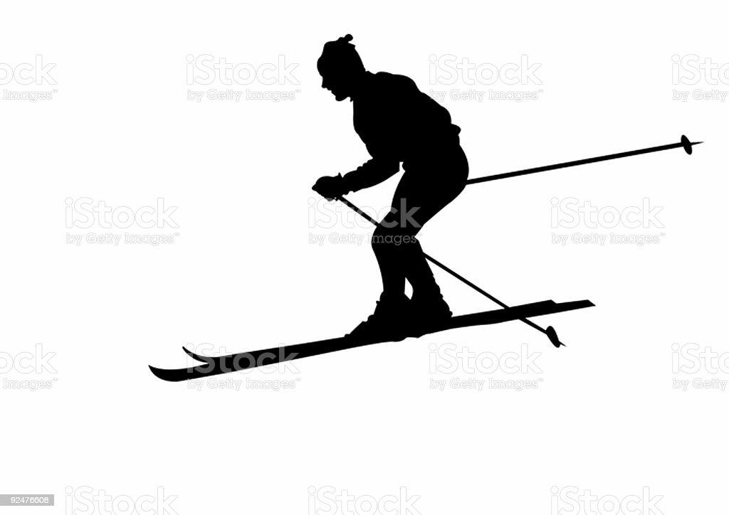 SKI EINEM Lizenzfreies ski einem stock vektor art und mehr bilder von berg