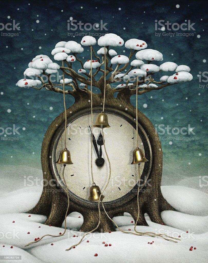 Сlock tree royalty-free stock vector art