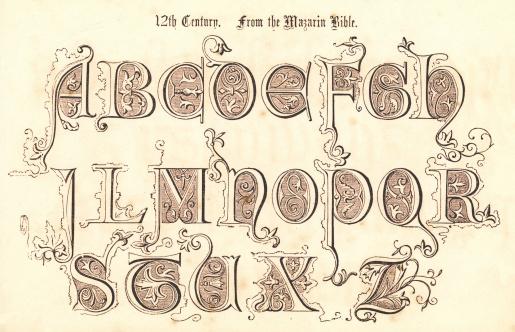 12th Century Style Alphabet