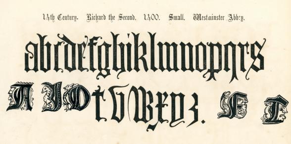 14th Century Style Alphabet