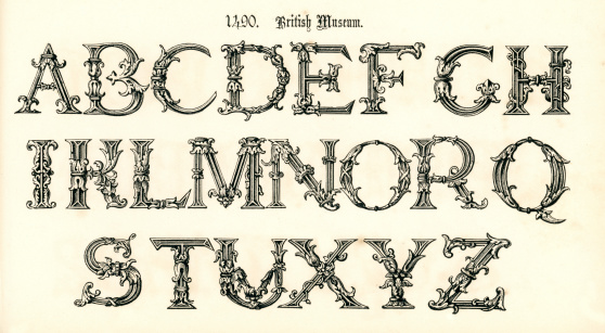 15th Century Style Alphabet