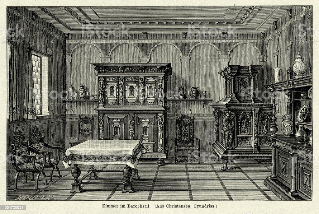 Arredamento Casa Stile Barocco : Xviiº secolo interno di casa in stile barocco immagini
