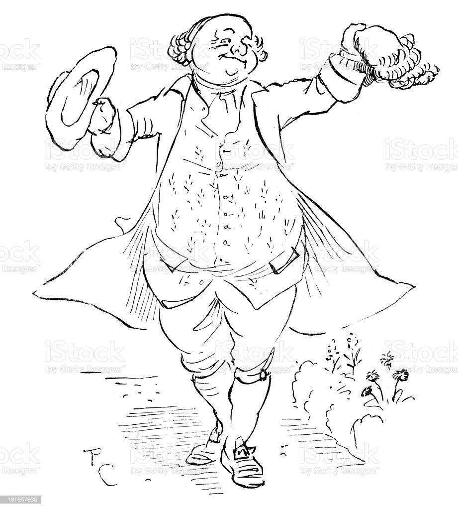18th Century Jolly Gentleman royalty-free stock vector art