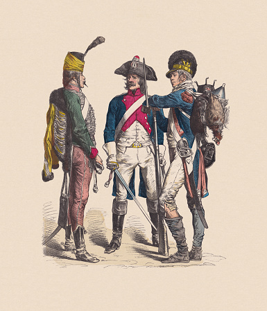 18th century, last third, French Republic, hand-colored woodcut, published c.1880