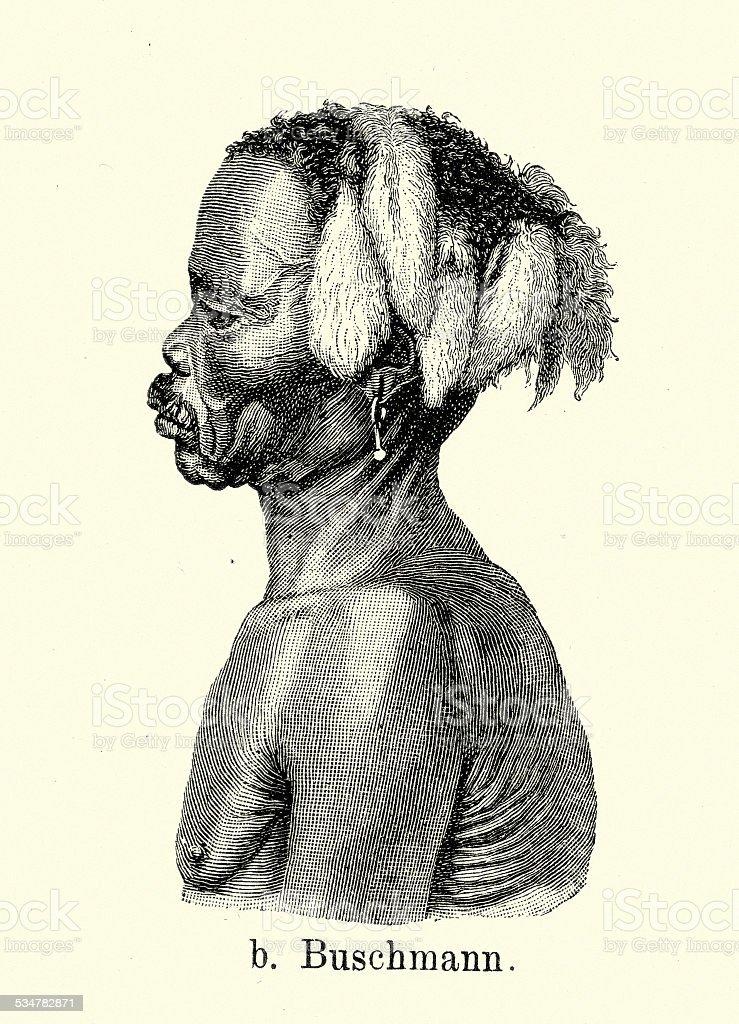 19th Century Africa San Or Bushman Stock Illustration Download Image Now Istock