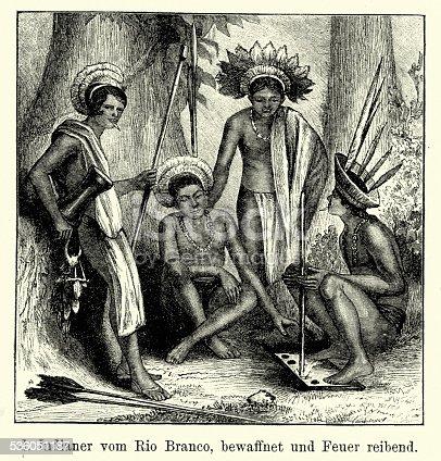 istock 19th Century Brazil - Indians of the Rio Branco 536051187