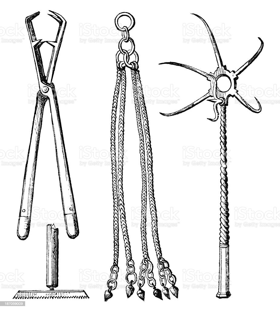 19th century engraving ancient Roman implements of torture royalty-free 19th century engraving ancient roman implements of torture stock vector art & more images of antique