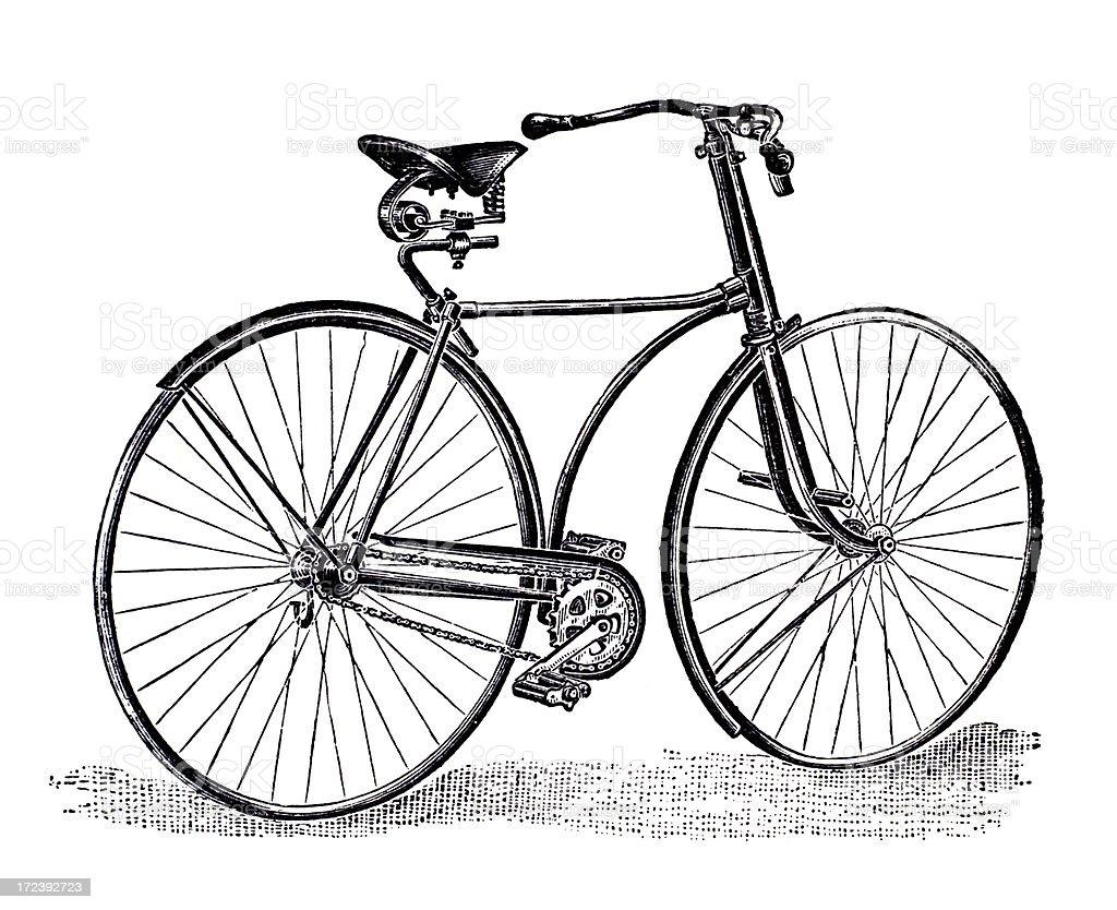 Favoloso Xix Secolo Incisione Di Una Bicicletta Illustrazione 172392723  UB82