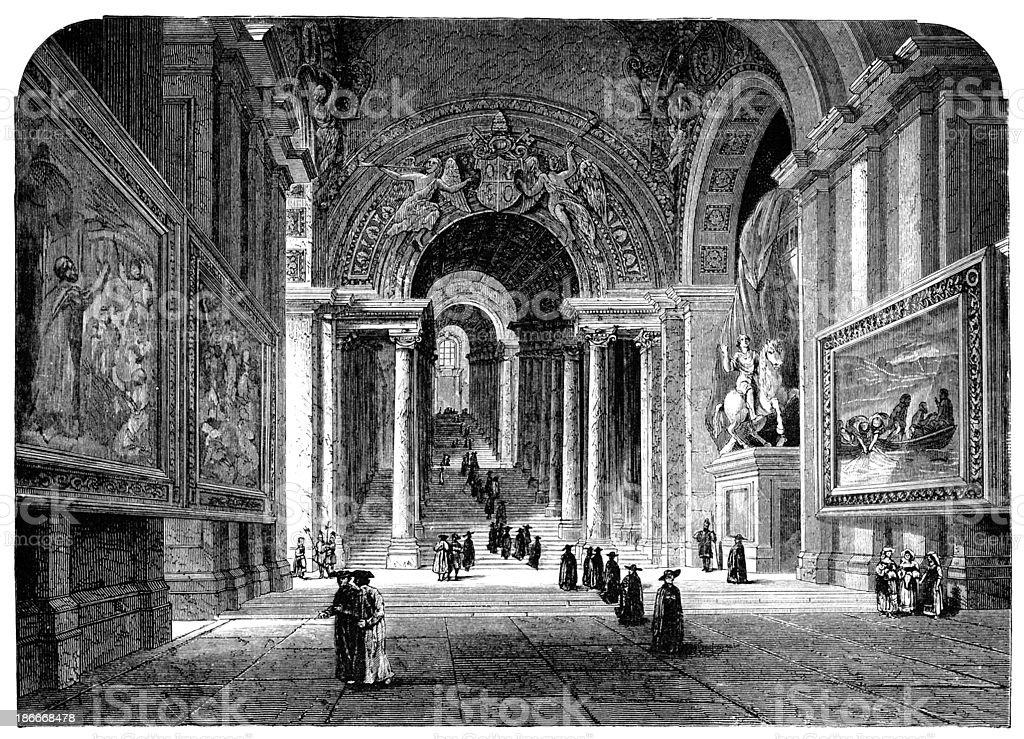 Xix secolo incisione della scala regia citt del vaticano for Piani di fattoria del 19 secolo